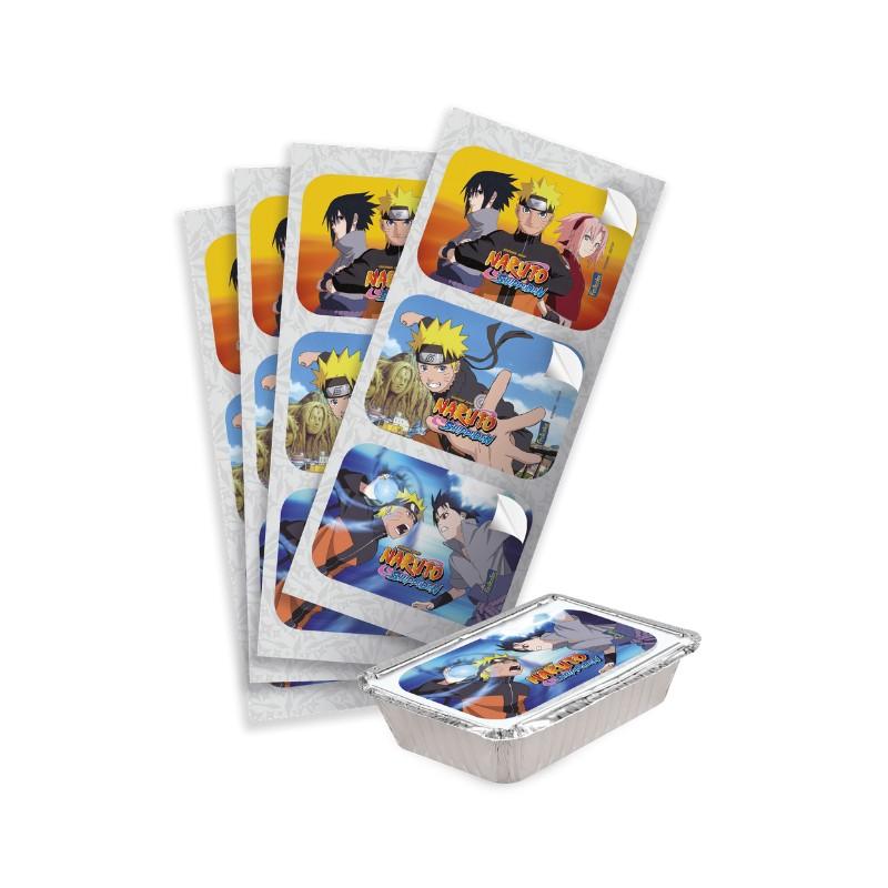 Adesivo Retangular Lembrancinha Naruto Shippuden - 12 Unidades - Festcolor