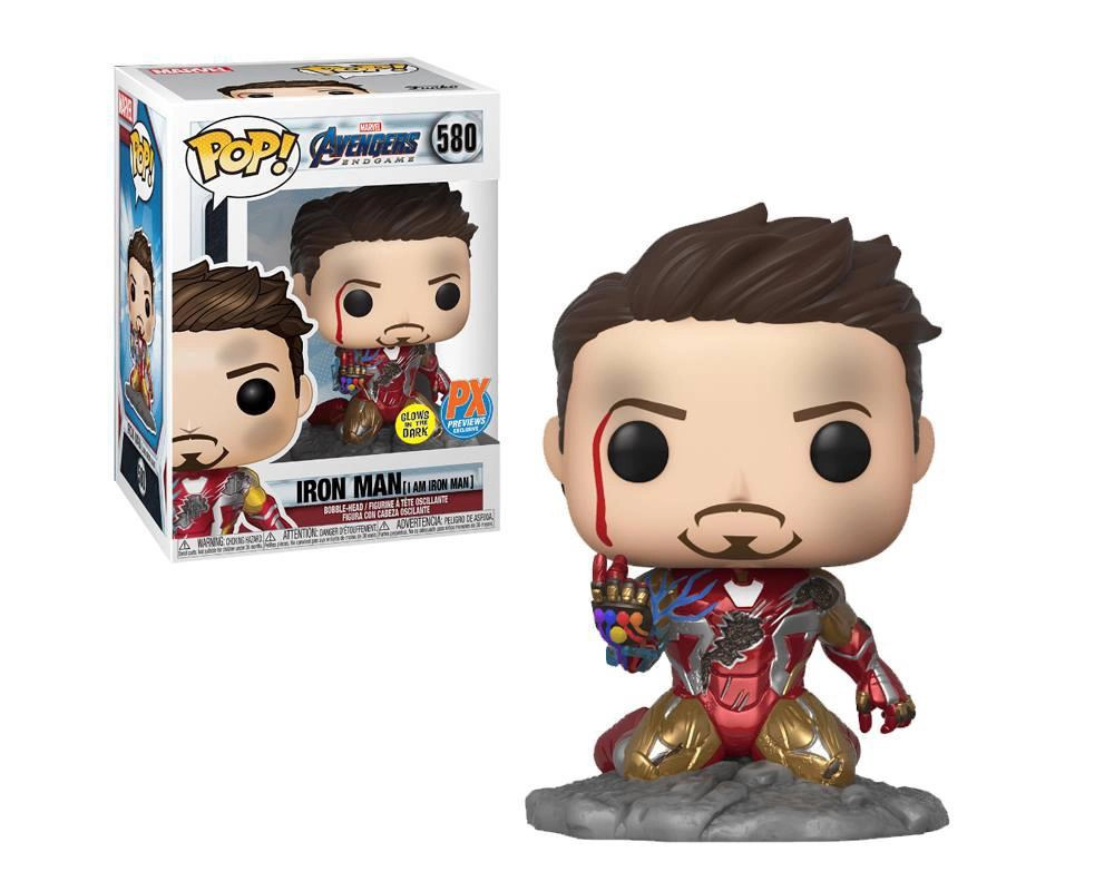 Funko Pop I Am Iron Man 580 Homem de Ferro Avengers Endgame