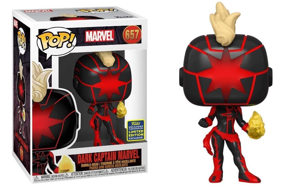 Dark Captain Marvel 657 SDCC Funko Pop