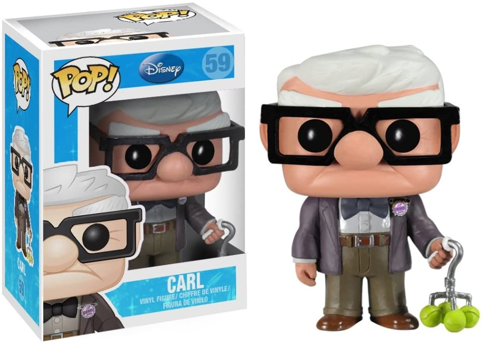 Funko Pop Carl 59 Up! Altas Aventuras Disney Pixar