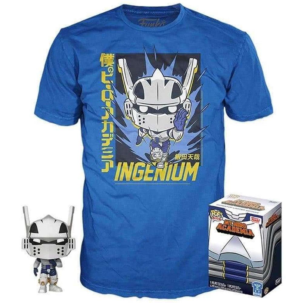 Box Funko Pop Ingenium Tenya Iida + Camiseta M My Hero Academia