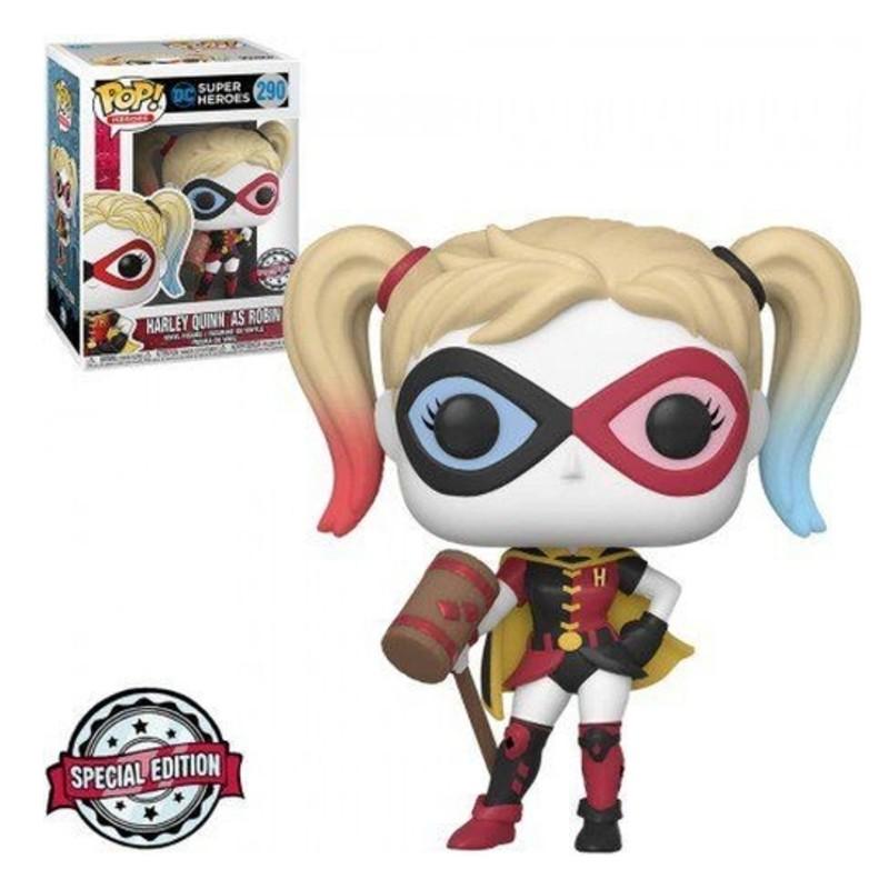 Funko Pop Arlequina Harley Quinn as Robin 290 DC Heroes