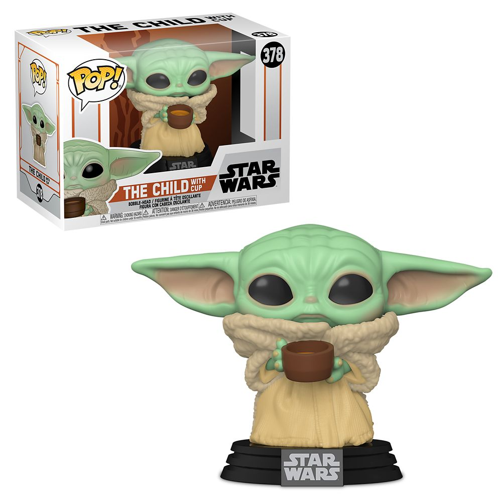 Funko Pop Baby Yoda 378 The Child w Cup - Star Wars The Mandalorian