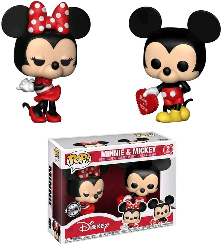 Funko Pop Mickey e Minnie Mouse 2-Pack Valentines Day