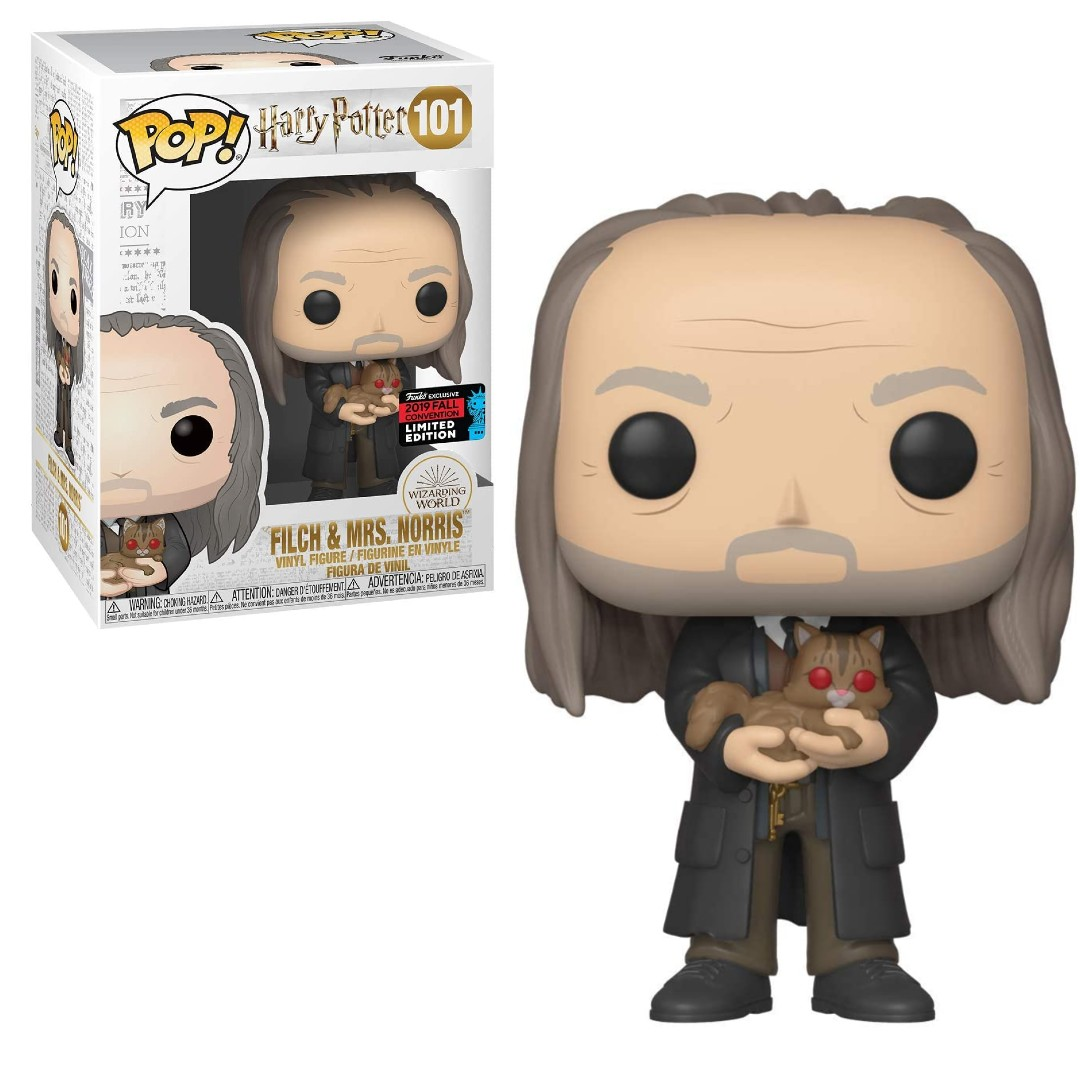 Funko Pop Filch & Mrs. Norris 101 NYCC - Harry Potter