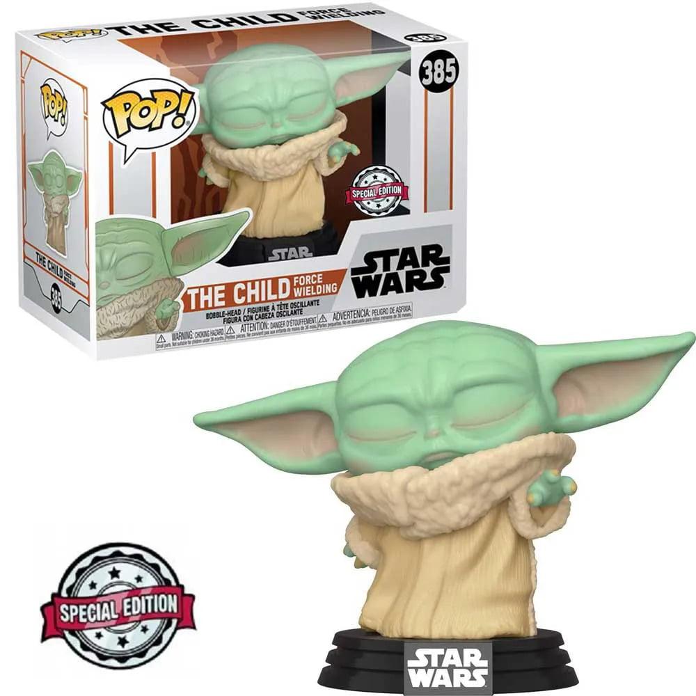Funko Pop Baby Yoda 385 The Child Force Wielding Star Wars The Mandalorian