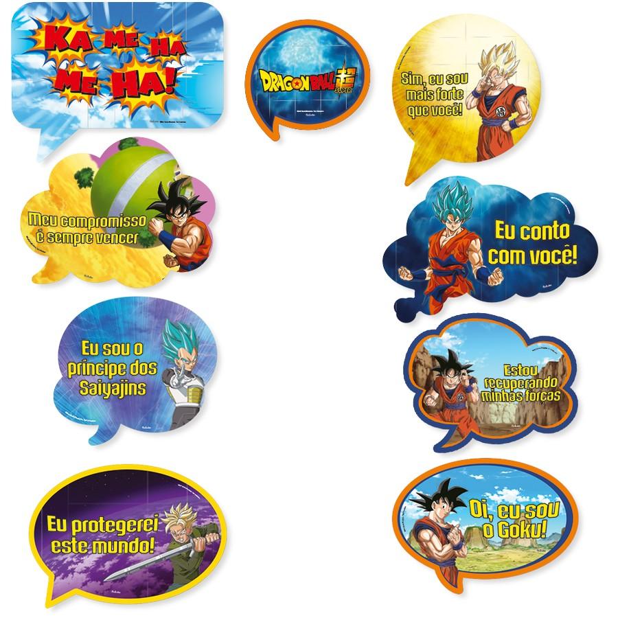 Kit Placas - Dragon Ball Super - Festcolor
