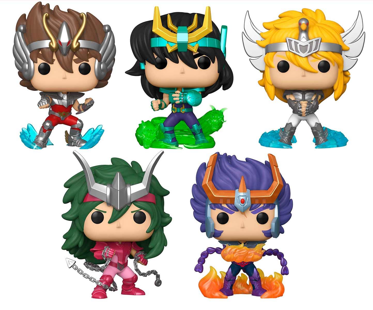 Funko Pop Cavaleiros do Zodiaco Saint Seiya Set de 5 Personagens