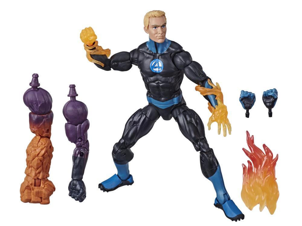 Marvel Legends Quarteto Fantástico Tocha Humana - Fantastic Four BAF Super Skrull