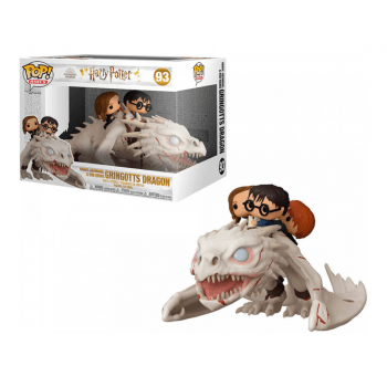 Funko Pop Harry Potter, Hermione and Ron on Gringotts Dragon 93