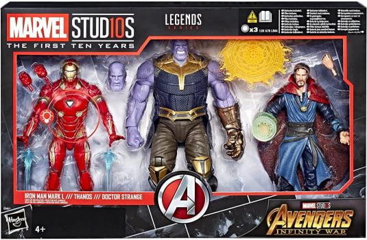 Marvel Legends Vingadores Thanos Iron Man Doctor Strange 3-Pack
