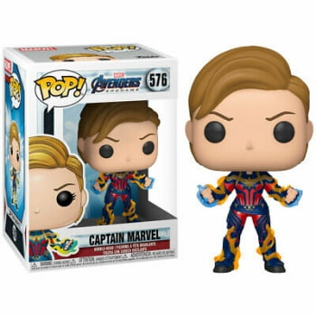 Funko Pop Captain Marvel New Hair 576 Vingadores Ultimato