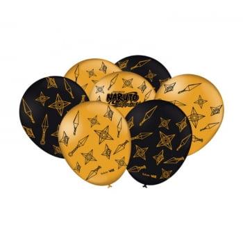 Balão de Latex - Naruto Shippuden - 25 Unidades - Festcolor