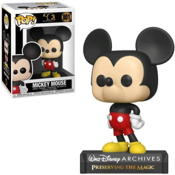 Boneco Funko Pop Mickey Mouse 801 Disney Archives 50th