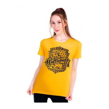 Camiseta Baby Look Harry Potter Casa de Lufa-Lufa Algodão