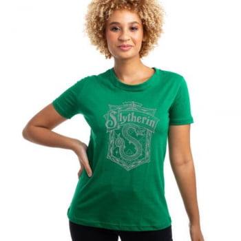 Camiseta Baby Look Harry Potter Casa de Sonserina
