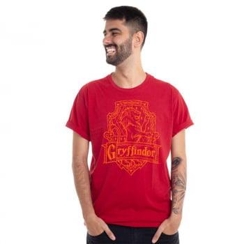 Camiseta Harry Potter Casa de Grifinória Clube Comix