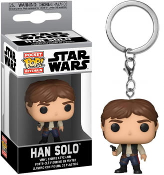 Chaveiro Han Solo Star Wars Funko Pop Pocket Keychain