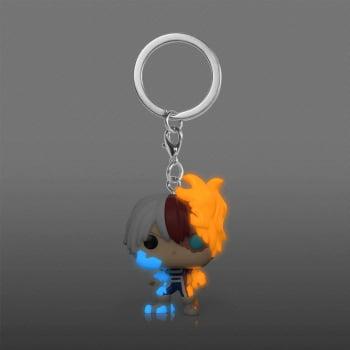 Chaveiro Shoto Todoroki GITD My Hero Academia Funko Pop Pocket Keychain