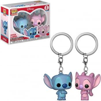 Disney - Stitch and Angel 2-Pack Chaveiro Funko Pocket Keychain