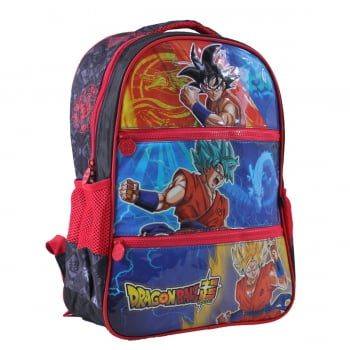 Dragon Ball Super - Mochila (Costas) Vermelha - Clio Style