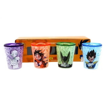 Dragon Ball Z - Kit com 4 Shots 50ml - Zona Criativa
