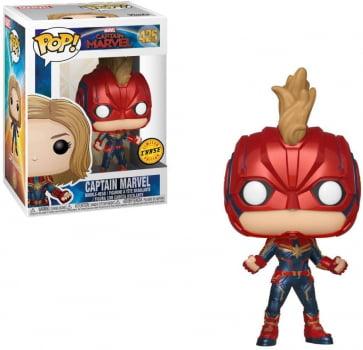 Funko Pop Capitã Marvel 425 Chase - Captain Marvel