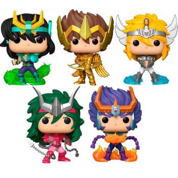 Funko Pop Cavaleiros do Zodiaco Saint Seiya Kit de 5 Personagens