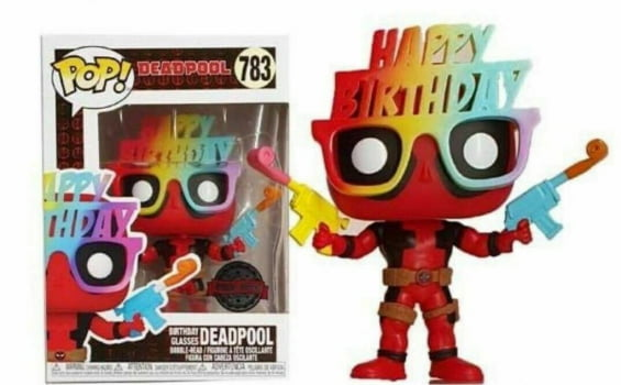Funko Pop Birthday Glasses Deadpool 783 Deadpool