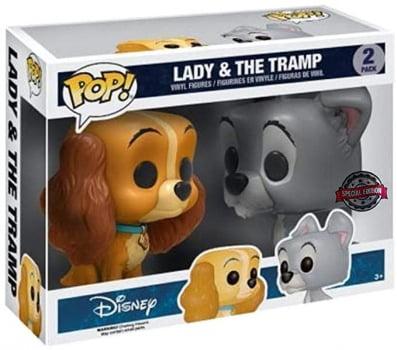 Funko Pop Dama e o Vagabundo 2-Pack Disney Lady and The Tramp