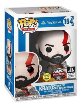 Funko Pop Kratos With The Blade of Chaos 154 GITD God of War