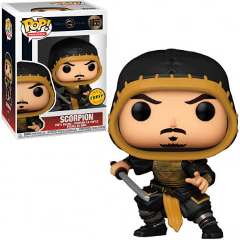 Funko Pop Mortal Kombat Scorpion 1055 CHASE Unmasked
