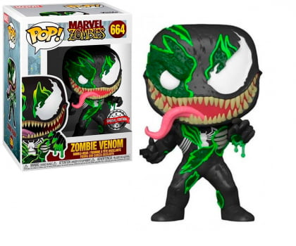 Funko Pop Zombie Venom 664 Marvel Zombies