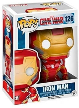 Funko Pop Homem de Ferro 126 Iron Man Civil War