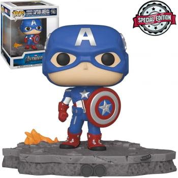 Funko Pop Capitão América 589 Avengers Assemble Deluxe Captain America