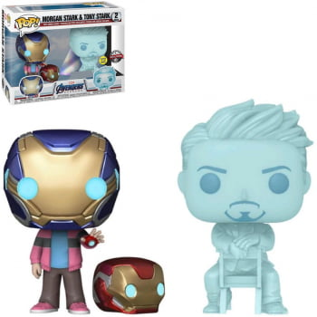 Funko Pop Morgan Stark & Tony Stark GITD 2-Pack Vingadores Ultimato
