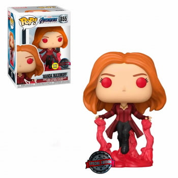 Funko Pop Wanda Maximoff 855 GITD Vingadores Ultimato Avengers