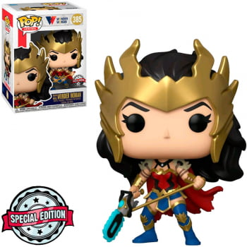 Funko Pop Mulher Maravilha Death Metal 385 Wonder Woman