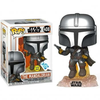 Funko Pop Mandalorian 408 GITD - Star Wars The Mandalorian