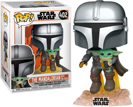 Funko Pop Mandalorian with Baby Yoda 402 - Star Wars The Mandalorian