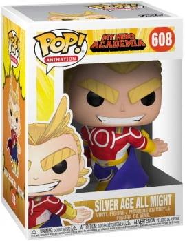 Funko Pop All Might Silver Age 608 - My Hero Academia
