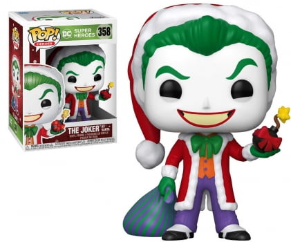 Funko Pop Coringa Holiday Joker as Santa 358 DC Heroes