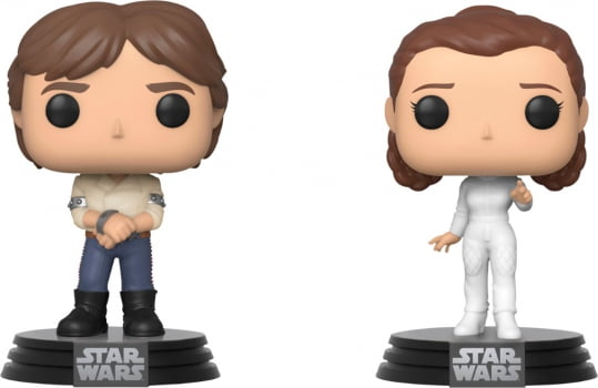 Funko Pop Han Solo e Princesa Leia 2-Pack - Star Wars 40th Empire Strikes Back
