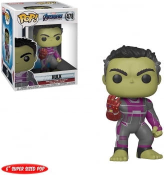 Funko Pop Hulk Nano Manopla do Infinito 478 Vingadores Ultimato