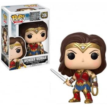 Funko Pop Mulher Maravilha 206 Wonder Woman - Liga da Justiça