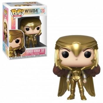 Funko Pop Mulher Maravilha 323 Golden Armor - Wonder Woman 1984