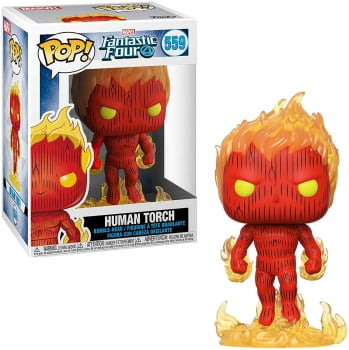 Funko Pop Quarteto Fantástico Tocha Humana 559 - Human Torch