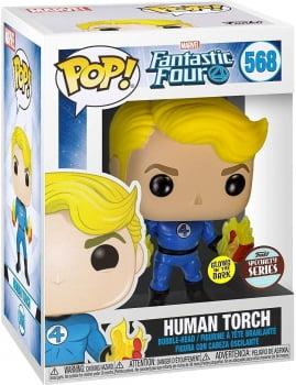 Funko Pop Quarteto Fantástico Tocha Humana 568 - Human Torch GITD