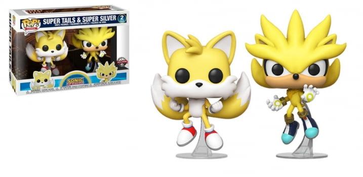 Funko Pop Super Tails & Super Silver 2-Pack - Sonic The Hedgehog