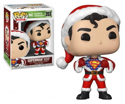 Funko Pop Superman Holiday Sweater 353 DC Heroes